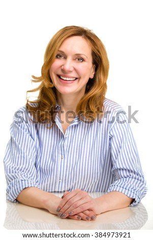 Smiling happy  woman.  - stock photo