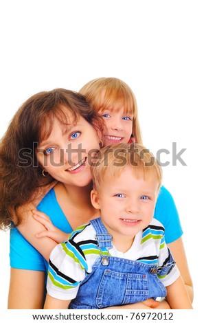 Smiling healthy family - stock photo