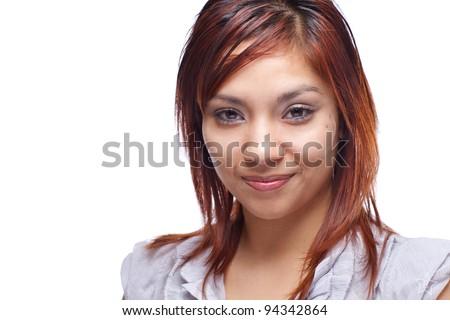 Smiling Hispanic Woman Headshot - stock photo