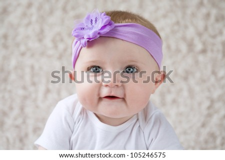Smiling Infant Baby [6 Month Old] - stock photo