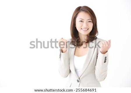 smiling Japanese businesswoman - stock photo
