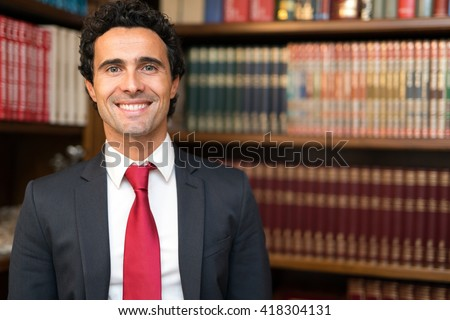 Smiling lawyer portrait - stock photo