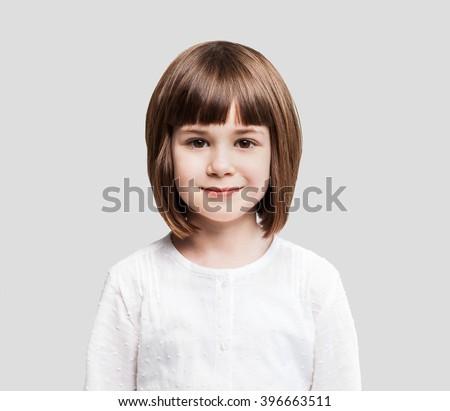 Smiling little girl portrait - stock photo