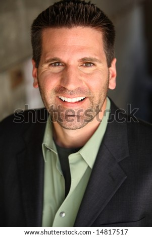 Smiling Man - stock photo
