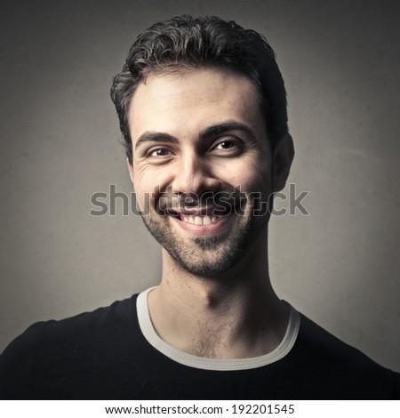 smiling man - stock photo