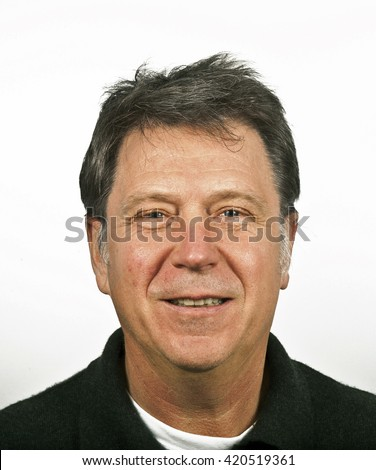smiling man isolated on a white background - stock photo