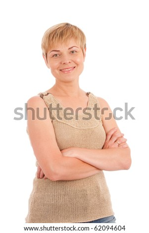 Smiling mature woman - stock photo