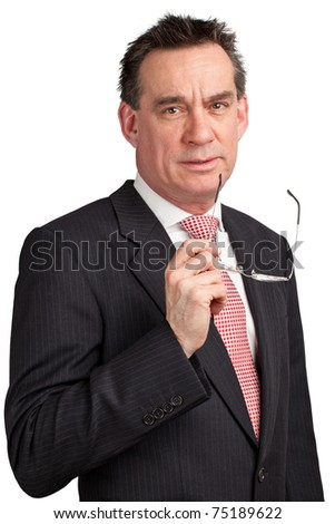 Smiling Middle Age Businessman in Suit