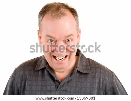 Smiling Middle Aged Man - stock photo