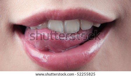 Smiling mouth of a girl