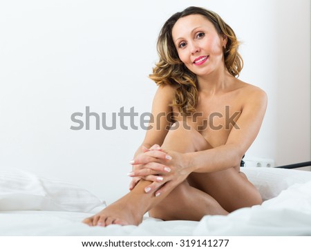 Middle aged woman naked