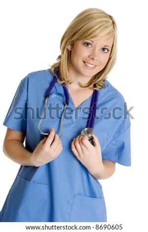 Smiling Nurse - stock photo