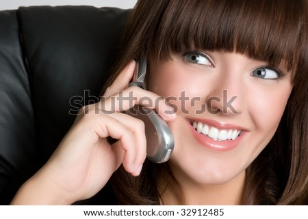 Smiling Phone Businesswoman