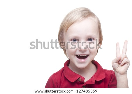 smiling positive 5 years old boy on a isolated background