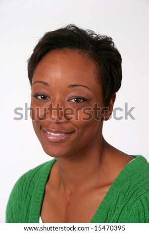 Smiling pretty woman - stock photo