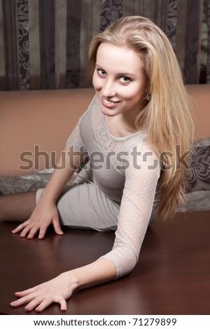 Smiling pretty woman - stock photo