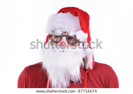 Smiling Santa Claus portrait, studio shot