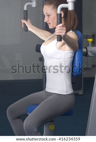 Smiling sexy fitness woman  - stock photo