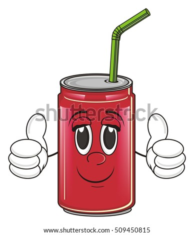 Smiling Soda Can With Green Ecology Sign Stock Illustration ...
