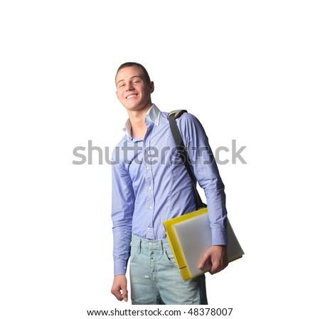 Smiling student - stock photo
