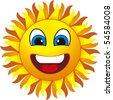 smiling sun - stock photo