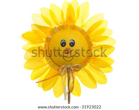Smiling Sunflower Images Smiling Sunflower Isolated on
