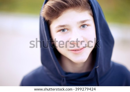 smiling teen boy 1416 year old stock photo edit now 399279424 shutterstock. Black Bedroom Furniture Sets. Home Design Ideas