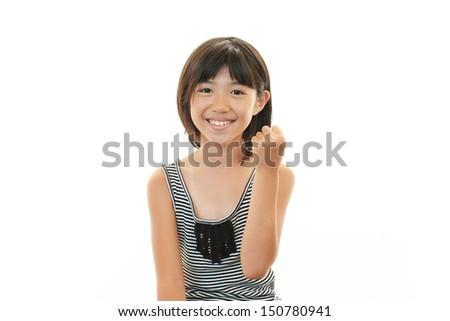 Smiling teen girl - stock photo