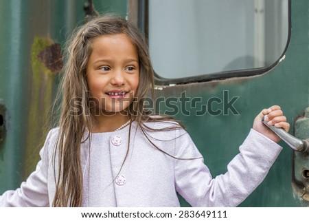 smiling thai girl - stock photo