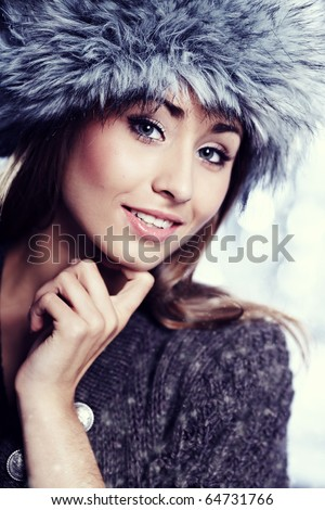 Smiling Winter Girl