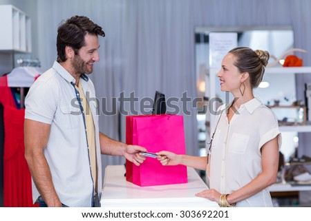 Cashier clothing store
