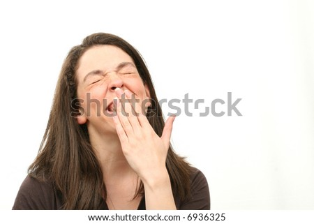 Smiling woman isolated over white