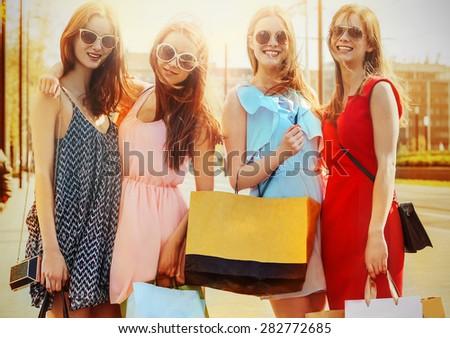 Smiling women - stock photo