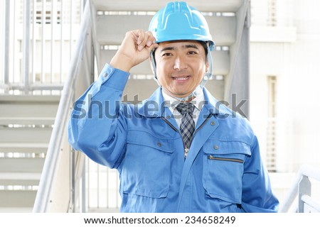 Smiling Worker  - stock photo