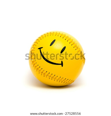 Smiling yellow ball