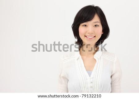 Smiling young Asian women - stock photo