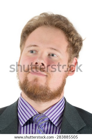 smiling young bearded man