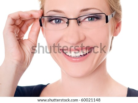 smiling young Businesswoman - stock photo