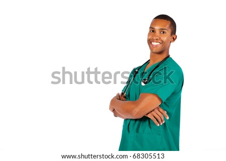 Smiling young doctor - stock photo