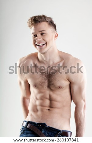 smiling young man - stock photo