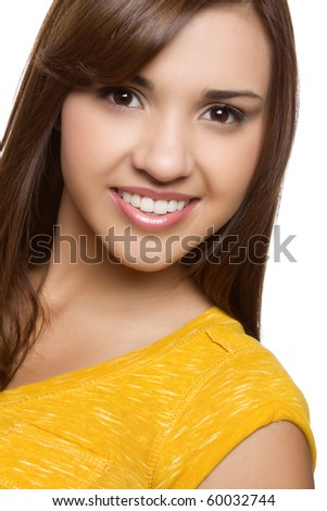 Smiling young pretty hispanic girl - stock photo