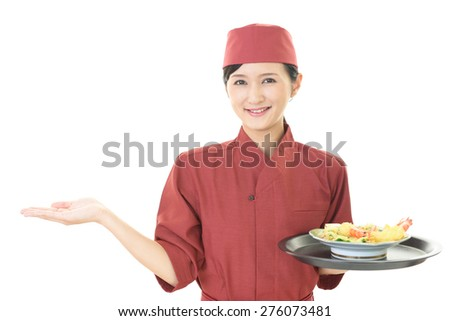 Smiling young waitress