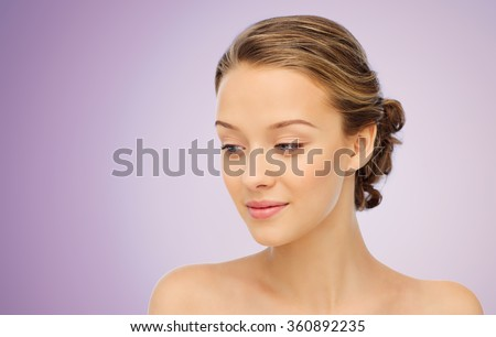 stock photo smiling young woman face and shoulders 360892235