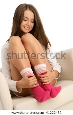 фото девущек в белых насочках