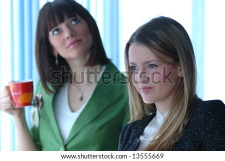 smilling young businesswoman team
