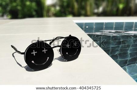 Smily sunglasses - stock photo