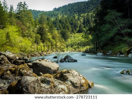 Smith River, N. California, USA - stock photo