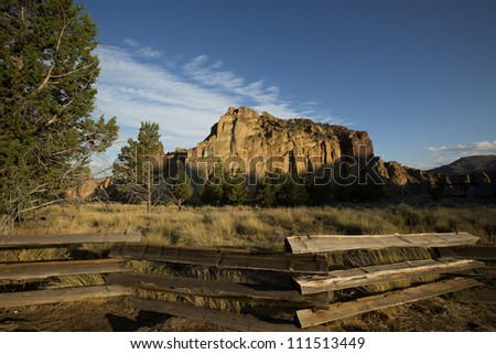 Smith Rock State Park, central Oregon - stock photo