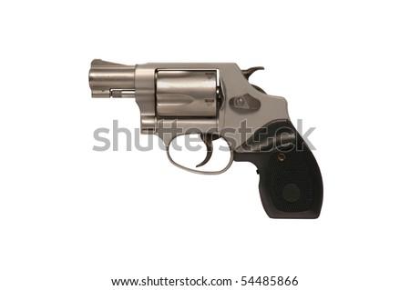 Smith & Wesson snubnose police revolver - stock photo