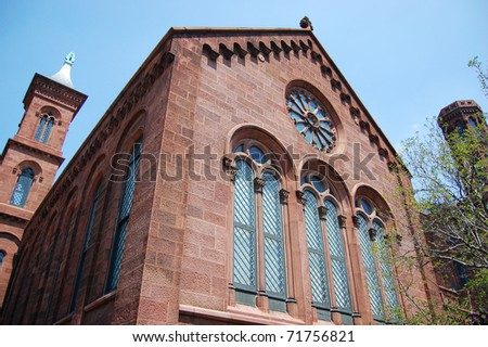 Smithsonian Castle in Washington DC - stock photo